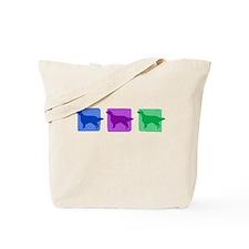 Color Row English Setter Tote Bag