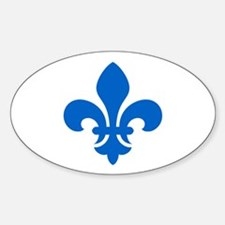 Blue Fleur-de-Lys Oval Decal
