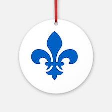 Blue Fleur-de-Lys Ornament (Round)