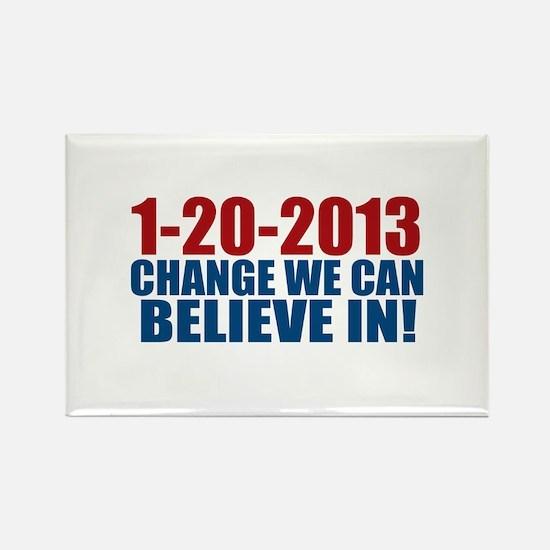 1-20-2013 Believe Rectangle Magnet