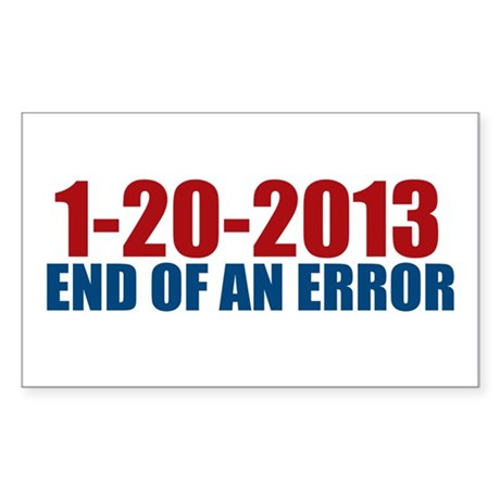 1-20-2013 End of Error Rectangle Sticker