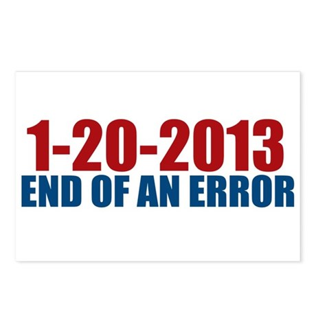 1-20-2013 End of Error Postcards (Package of 8)