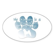 Norwegian Elkhound Granddog Oval Decal