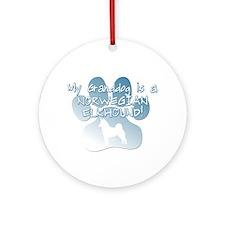 Norwegian Elkhound Granddog Ornament (Round)