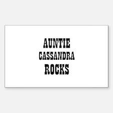 AUNTIE CASSANDRA ROCKS Rectangle Decal