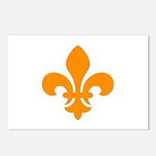 Orange Fleur-de-Lys Postcards (Package of 8)