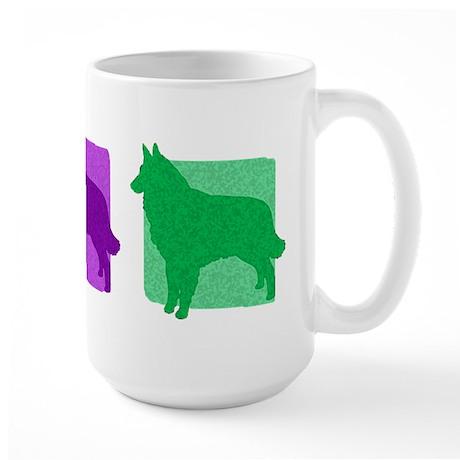 Color Row Tervuren Large Mug