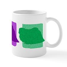 Color Row Pekingese Mug