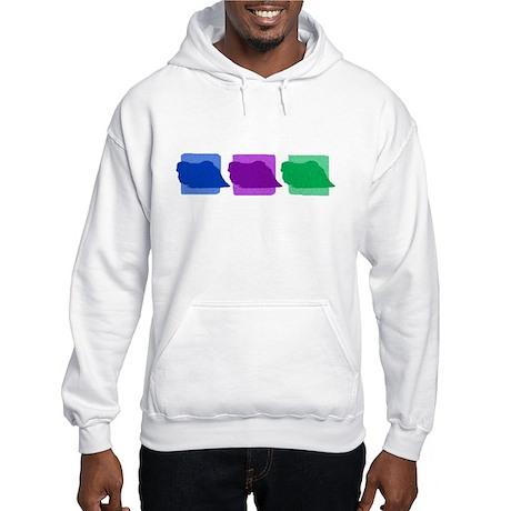 Color Row Pekingese Hooded Sweatshirt