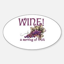 A Serving of Fruit Oval Decal