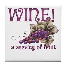 A Serving of Fruit Tile Coaster