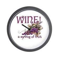 A Serving of Fruit Wall Clock