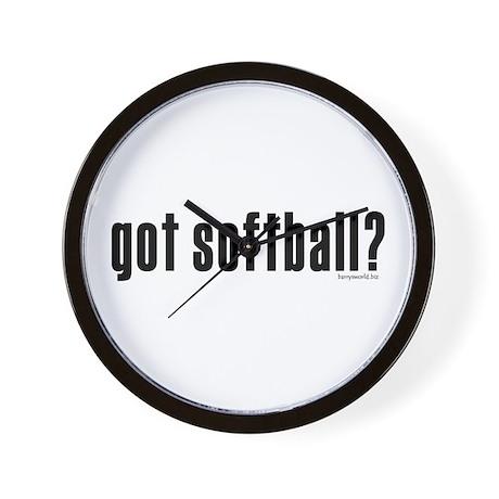 got softball? Wall Clock
