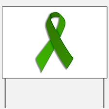 Yard Sign Green Ribbon