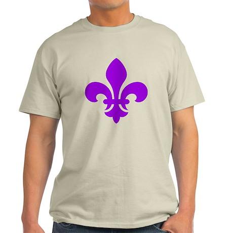 Purple Fleur-de-Lys Light T-Shirt