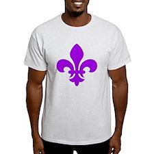 Purple Fleur-de-Lys T-Shirt