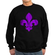 Purple Fleur-de-Lys Sweatshirt