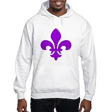 Purple Fleur-de-Lys Jumper Hoody