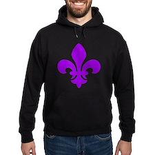 Purple Fleur-de-Lys Hoody