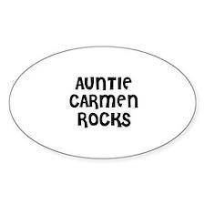 AUNTIE CARMEN ROCKS Oval Decal