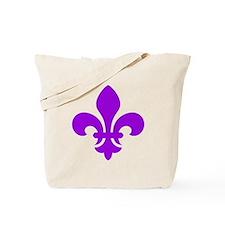 Purple Fleur-de-Lys Tote Bag