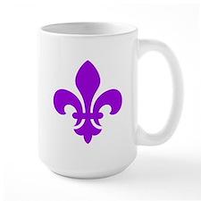 Purple Fleur-de-Lys Mug