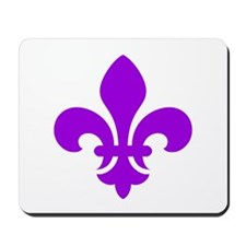 Purple Fleur-de-Lys Mousepad