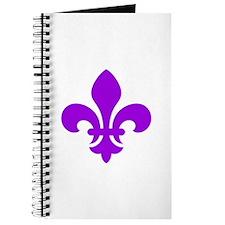 Purple Fleur-de-Lys Journal