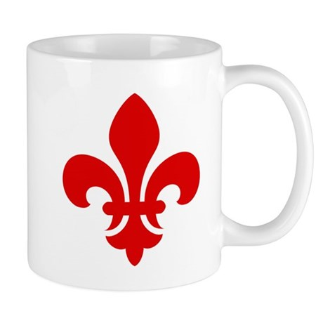 Red Fleur-de-Lys Mug
