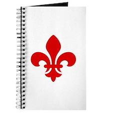 Red Fleur-de-Lys Journal