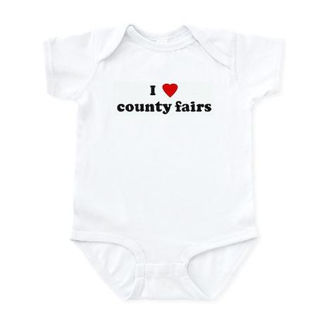 I Love county fairs Infant Bodysuit