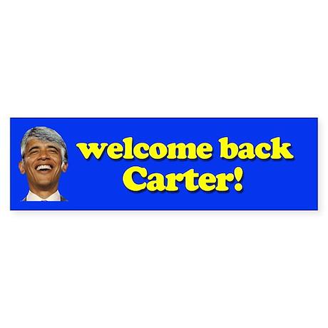Welcome Back Carter Bumper Sticker