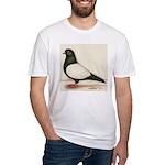 Black Whiteside Roller Pigeon Fitted T-Shirt