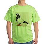 Black Whiteside Roller Pigeon Green T-Shirt