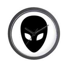 Black Alien Wall Clock