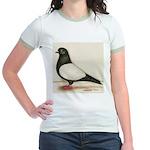 Black Whiteside Roller Pigeon Jr. Ringer T-Shirt