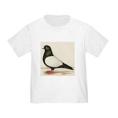 Black Whiteside Roller Pigeon T