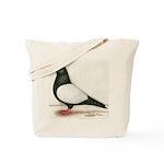 Black Whiteside Roller Pigeon Tote Bag