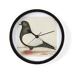 Black Whiteside Roller Pigeon Wall Clock