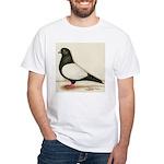 Black Whiteside Roller Pigeon White T-Shirt