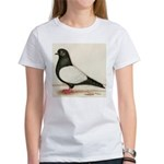 Black Whiteside Roller Pigeon Women's T-Shirt