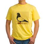 Black Whiteside Roller Pigeon Yellow T-Shirt