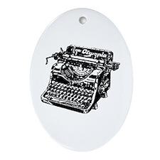 VINTAGE TYPEWRITER Ornament (Oval)