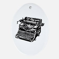 VINTAGE TYPEWRITER Ornament (Oval)