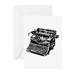VINTAGE TYPEWRITER Greeting Cards (Pk of 20)