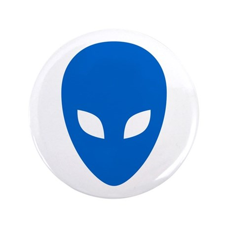 """Blue Alien 3.5"""" Button"""