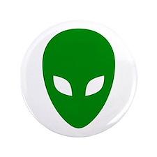 """Green Alien 3.5"""" Button"""