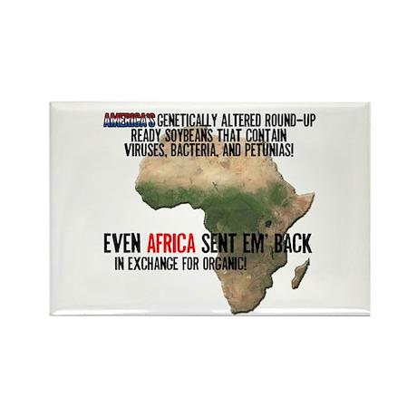 GM Foods Rectangle Magnet (100 pack)
