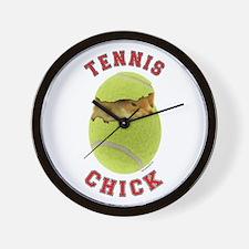 Tennis Chick 2 Wall Clock