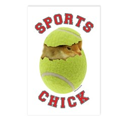 Tennis Chick 3 Postcards (Package of 8)
